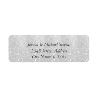 Elegant chic luxury glittery look return address label