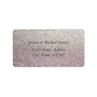 Elegant chic luxury glittery look label