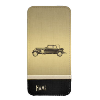 Elegant chic luxury golden look old car iPhone 5 pouch