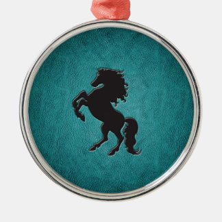 Elegant chic luxury  leather look horse ornaments