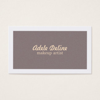 Elegant Chic Minimalist Pale Pink Makeup Artist Business Card