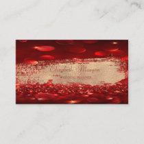 Elegant Chic Modern Bokeh,Faux Gold Brush Stroke Business Card