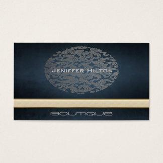 Elegant chic modern ellipse damask business card