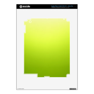 Elegant & Chic Ombre Yellow and Green Watercolor iPad 3 Decal