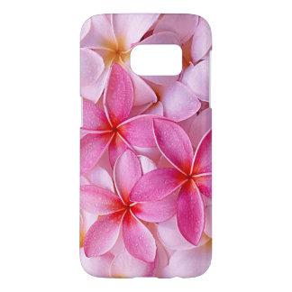Elegant Chic Pastel Pink Hawaiian Plumeria Flowers Samsung Galaxy S7 Case