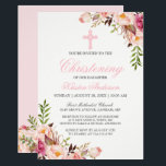 "Elegant Chic Pink Floral Christening Baptism Invitation<br><div class=""desc"">Elegant Chic Pink Floral Christening / Baptism Invitation. (1) For further customization, please click the &quot;customize further&quot; link and use our design tool to modify this template. (2) If you prefer Thicker papers / Matte Finish, you may consider to choose the Matte Paper Type. (3) If you need help or...</div>"
