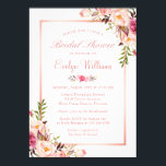 """Elegant Chic Rose Gold Floral Bridal Shower Card<br><div class=""""desc"""">================= ABOUT THIS DESIGN ================= Elegant Chic Rose Gold Floral Bridal Shower Invitation. (1) For further customization, please click the &quot;Customize&quot; button and use our design tool to modify this template. All text style, colors, sizes can be modified to fit your needs. (2) If you prefer thicker papers, you may...</div>"""