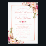 "Elegant Chic Rose Gold Floral Bridal Shower Invitation<br><div class=""desc"">================= ABOUT THIS DESIGN ================= Elegant Chic Rose Gold Floral Bridal Shower Invitation. (1) For further customization, please click the &quot;Customize&quot; button and use our design tool to modify this template. All text style, colors, sizes can be modified to fit your needs. (2) If you prefer thicker papers, you may...</div>"