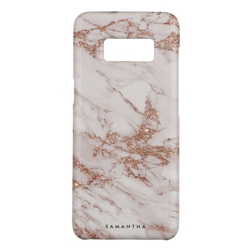 Elegant Chic Rose Gold Marble Abstract Case-Mate Samsung Galaxy S8 Case