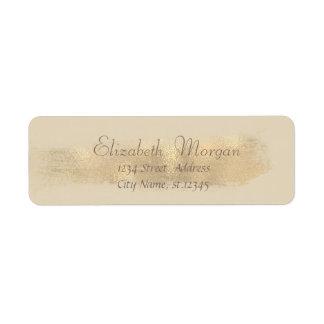 Elegant Chic  Simple,Faux Gold Brush Stroke Label