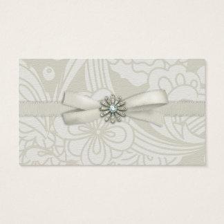 Elegant Chic Soft Green Ribbon Sparkle Business Card