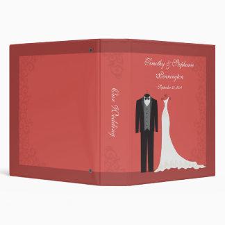 Elegant chic swirl wedding dress and suit binder
