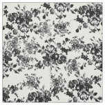 Elegant chic vintage black  white floral pattern fabric