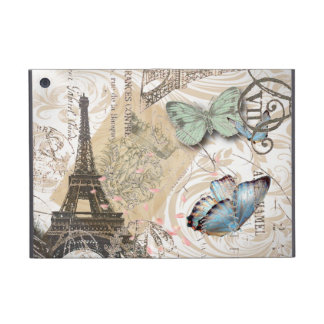 elegant chic Vintage butterfly Paris EiffelTower iPad Mini Covers