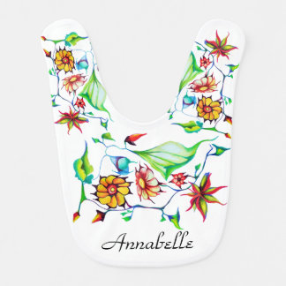Elegant Chic Whimsical Enchanting Exotic Floral Bib