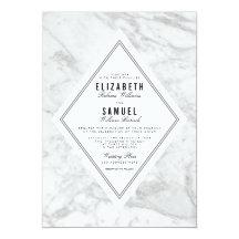 White Grey Marble Elegant Wedding Collection