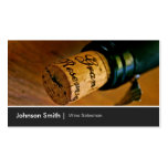Elegant Chic Wine Bottle Salesman Salesperson Business Cards