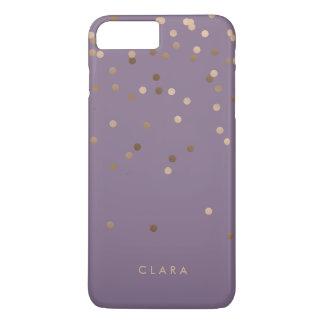 elegant chick glam rose gold confetti dots violet iPhone 8 plus/7 plus case