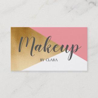 elegant chick modern faux gold pink geometric business card