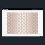 "Elegant Chick Rose Gold Polka Dots Pattern Grey 13&quot; Laptop Skin<br><div class=""desc"">Stylish and modern pattern faux copper rose gold ellipse design on grey background.</div>"