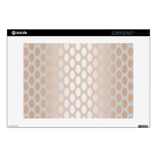 Elegant Chick Rose Gold Polka Dots Pattern Grey Laptop Decals