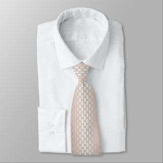 Elegant Chick Rose Gold Polka Dots Pattern Grey Tie