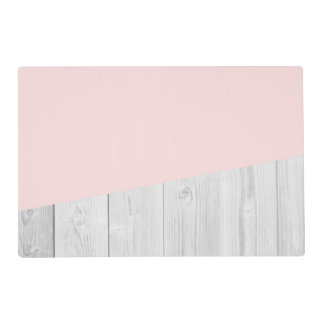 elegant chick white pastel pink wooden geometric placemat