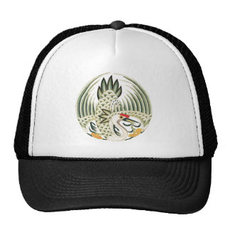 Elegant Chinese Bird Good Luck Symbol Hats
