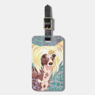 Elegant Chinese Crested Luggage Tag