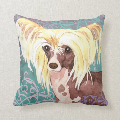Elegant Chinese Crested Pillow