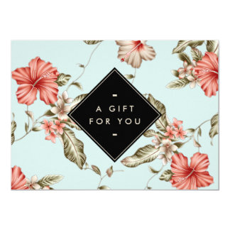 Elegant Chinoiserie Floral Pattern Gift Card