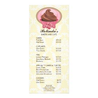 Elegant Chocolate Cupcake Bakery Rack Card rackcard
