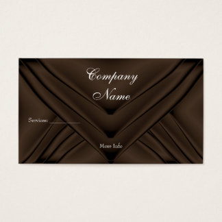 Elegant Chocolate Silk Purse Company Business Card