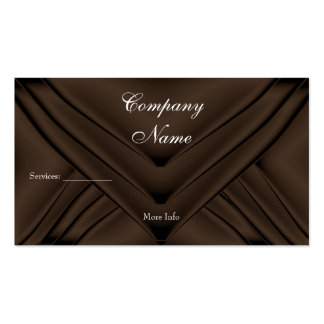 Elegant Chocolate Silk Purse Company Tarjeta De Visita