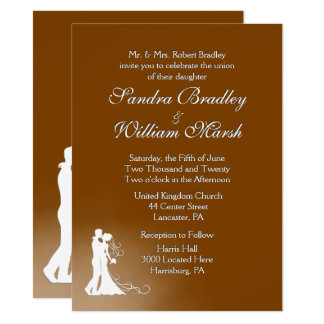 Elegant Chocolate Wedding Invitation