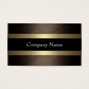 Coffee Themed Elegant Chocolate with Black Coffee Business Card
