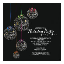 Elegant Christmas Ball Holiday Party Invitation