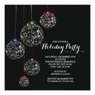 ball christmas invitations zazzle