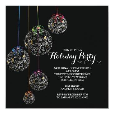 Christmas Themed Elegant Christmas Ball Holiday Party Invitation