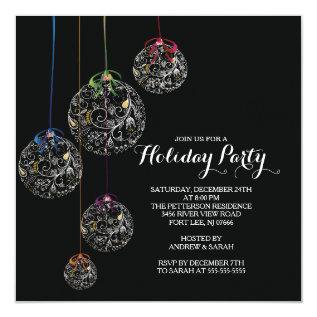 Elegant Christmas Ball Holiday Party Invitation at Zazzle