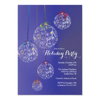 Elegant Christmas Balls Holiday Invitation