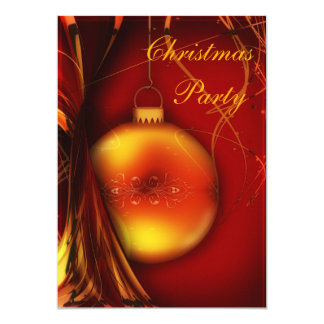 Elegant Christmas Bauble Bauble Double Sided Announcements
