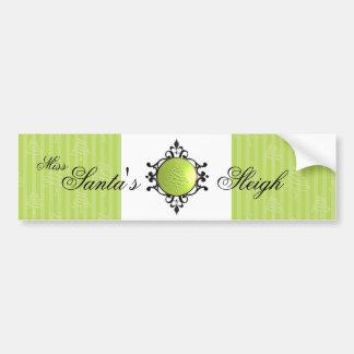 Elegant Christmas Bobble Bumper Sticker
