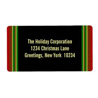 Elegant Christmas Border Return Address Labels