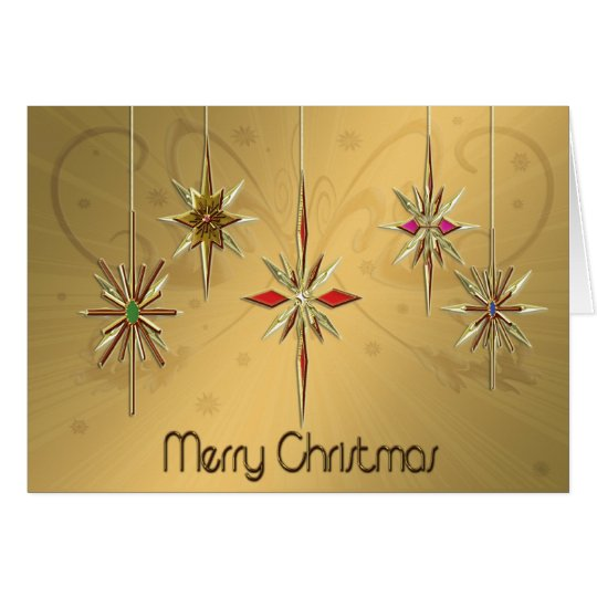 Elegant Christmas card with ornaments