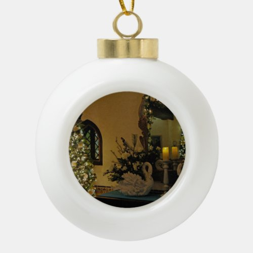 Elegant Christmas Ceramic Ball Christmas Ornament