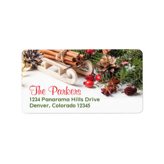 Elegant Christmas Decorations Holiday Party Label