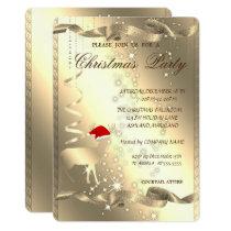 Elegant Christmas Deer,Sparkle,Christmas Party Invitation