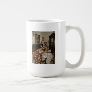 Elegant Christmas dinner table Coffee Mug