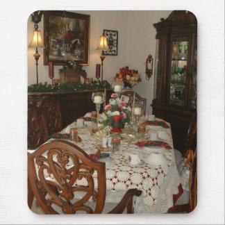 Elegant Christmas dinner table Mouse Pad